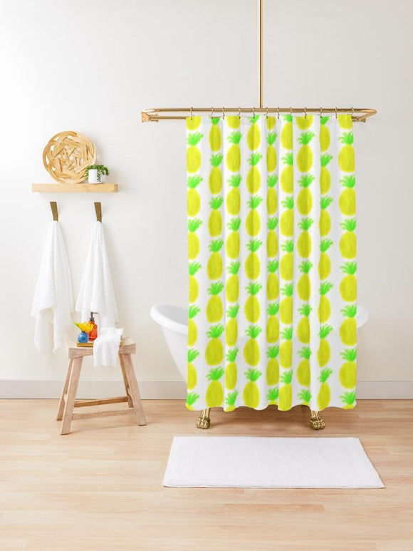 Cosmic Pineapple Shower Curtain - Captain Woody's Locker