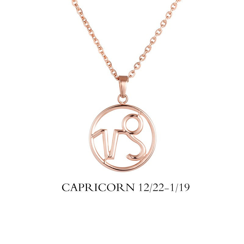 Capricorn Sign Necklace