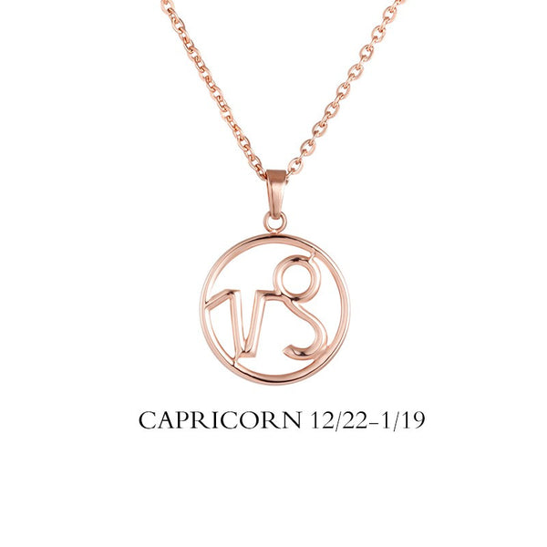 Capricorn Necklace - Capricorn Zodiac Sign/ Constellation Necklace Gold, Rose gold, Black, Steel