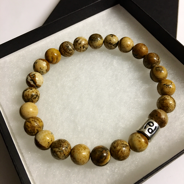 Cancer Bracelet Jasper Gemstone Bead
