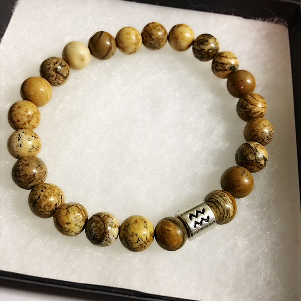 Aquarius Bracelet Jasper Gemstone Bead