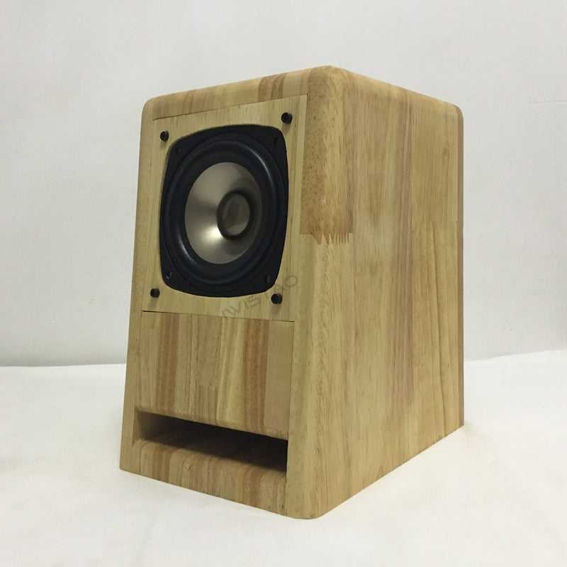 IWISTAO HIFI 4 inches full range  Labyrinth Speaker cabinet oak wood finished