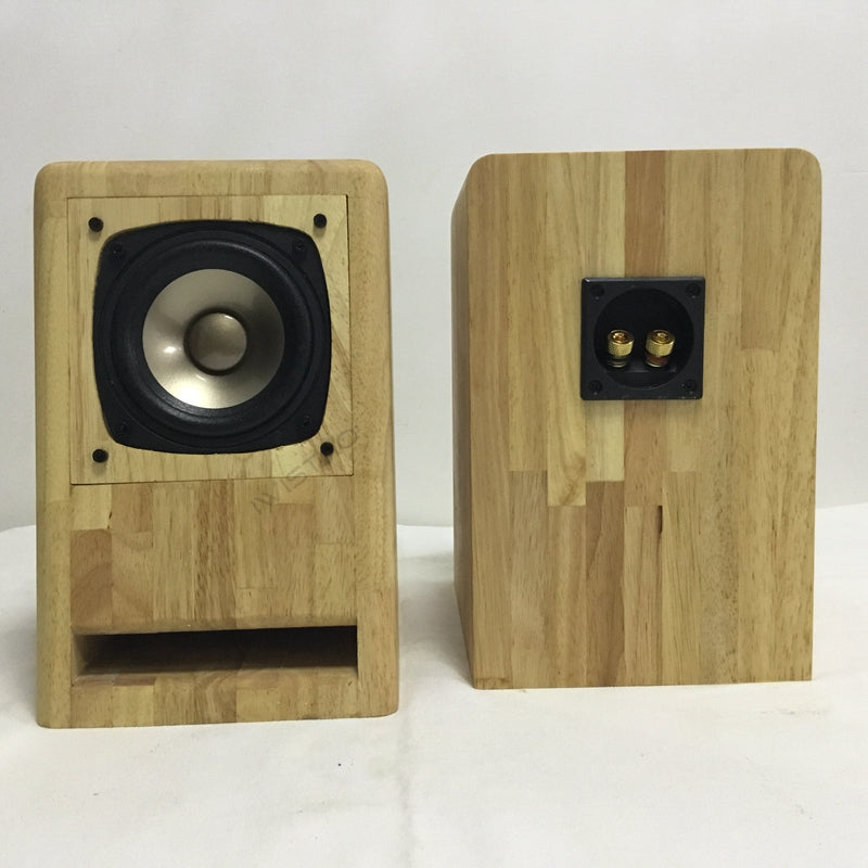 IWISTAO HIFI 4 inches full range  Labyrinth Speaker cabinet oak wood finished1