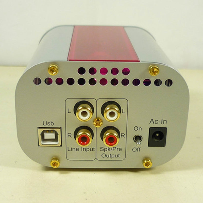 HIFI Earphone Tube Amplifier with 12AT7 Tube TENOR TE7022L 24Bit USB DAC chip CS4398 DAC white