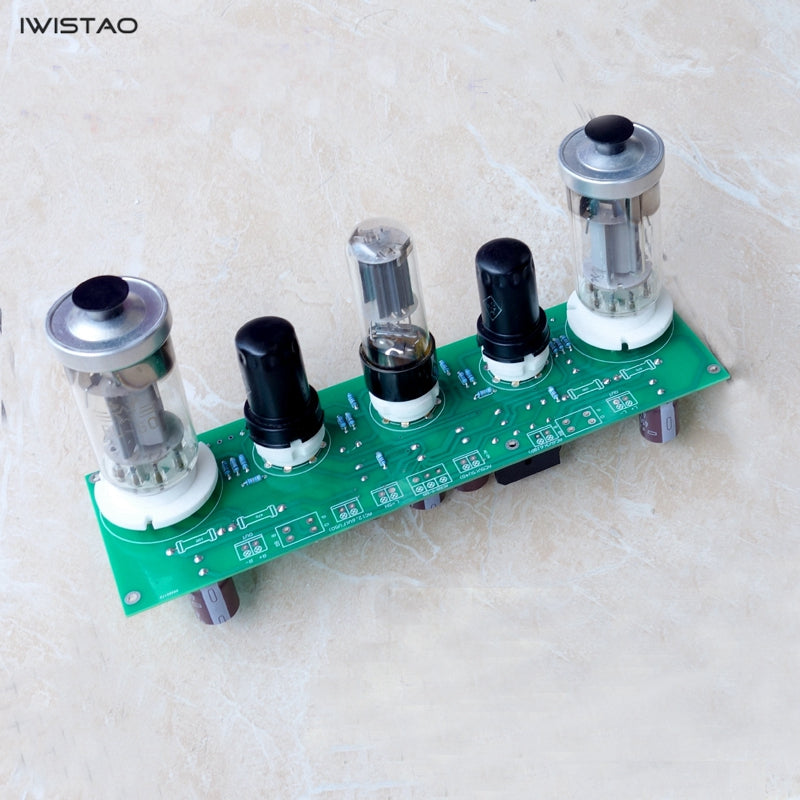 IWISTAO FU50 Small 300B 2x8W Vacuum Tube Amplifier Finished Board Kit Single-ended Class A DIY Free Tuning (including tubes)