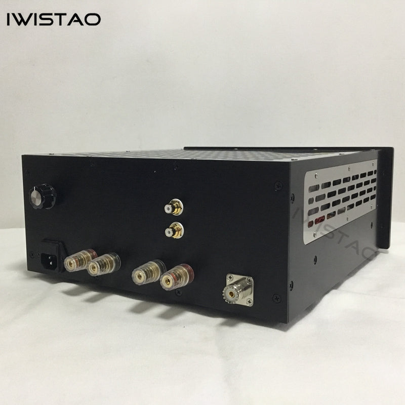 IWISTAO Tube FM Stereo Radio Power Amp 6P1 Metal Chassis High Sensitivity Black Casing 110V