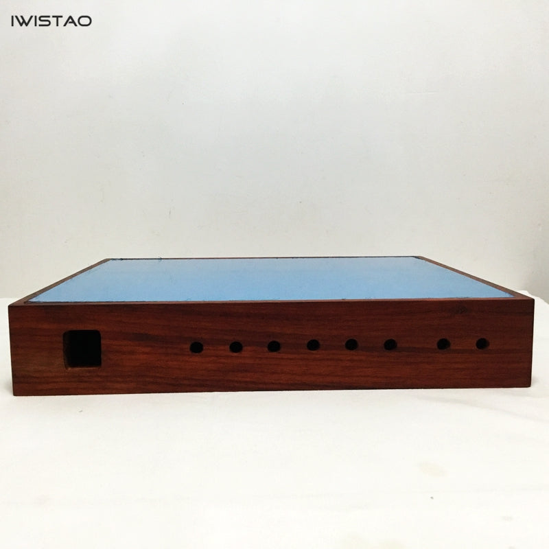DIY Tube Amplifier Casing 400x340x70 with Luxury Red rosewood wooden cabinet housing and aluminum plates 400x340x70 HIFI Audio