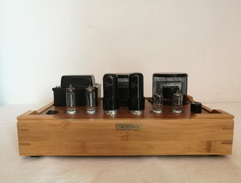 IWISTAO Single-ended Tube Amplifier Class A 2X4.8W 6P6P Bamboo Casing Scaffolding Soldering