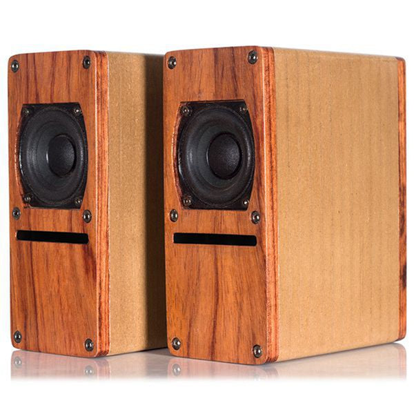 IWISTAO HIFI 2 Inch Full Range Labyrinth Structure Speaker Wooden 2X10W 4 ohm 84dB Rosewood Color