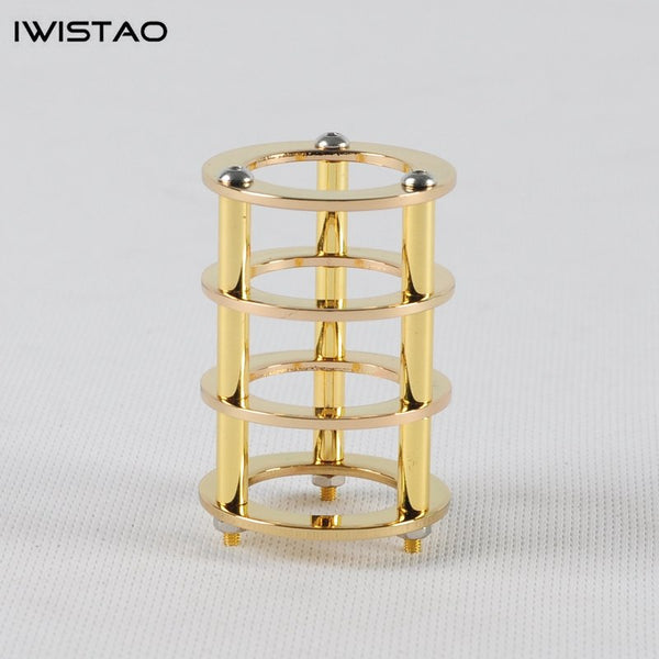 IWISTAO 1pc Tube Shield 24K Gold-plated Copper for Tubes of EL84 6P14 DIY for your HIFI Tube Amplifier
