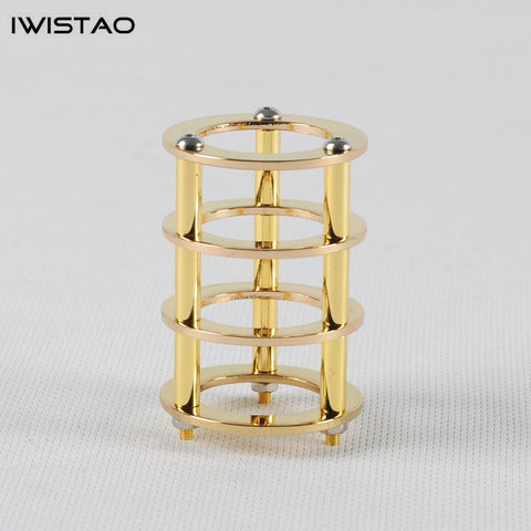 IWISTAO 1pc Tube Shield 24K Gold-plated Copper for Tubes EL84 6P14 DIY  Tube Amplifier