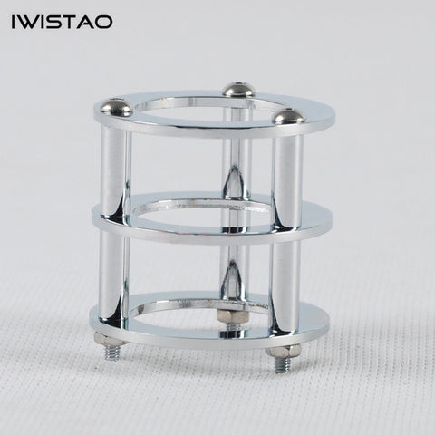 IWISTAO 1pc Tube Shield Silver-plated Copper for Tubes 12AU7, 12AX7, 6N1, 6N3, 6N6  Tube Amp