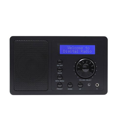 DAB+FM Digital Radio 2W RMS Bluetooth Speaker Snooze & Alarm Clock LCD Display Desktop Home Radios