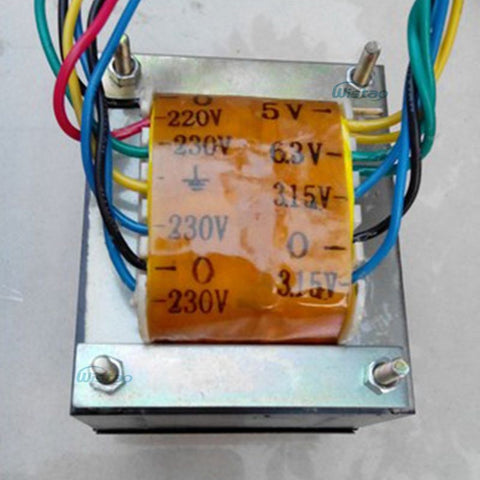 IWISTAO 105W Tube Amp Power transformer 230VX2 6.3VX1 5VX1 3.15VX2 Silicon Steel Sheets