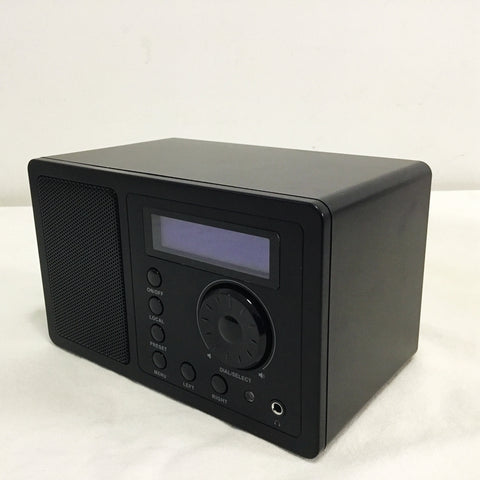 WIFI Radio Internet Web Radios 2W RMS Display Support Power Adaptor Battery Black