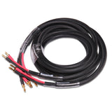 HIFI Interconnection Speakers Cable 5N OFC MCA Plug 8pcs Single Crystal Copper Wire  2.5m Black