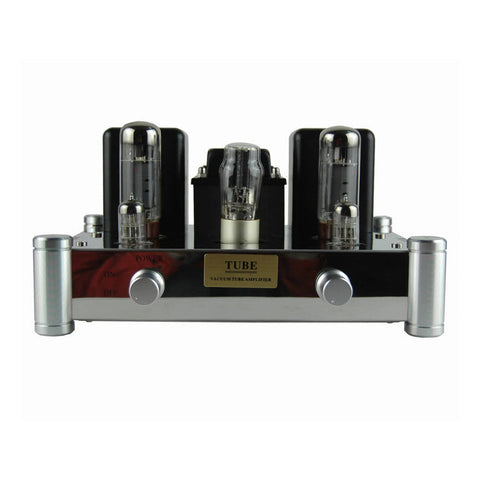 2x12W Single-ended Class A Tube Amplifier 6N2J Preamp EL34 Power 5Z4PJ Stainless Steel Chassis