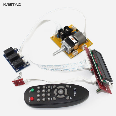 IWISTAO Amp Volume Potentiometer ALPS Remote-Control 3 Chs Inputs Kit LCD Display HIFI Audio