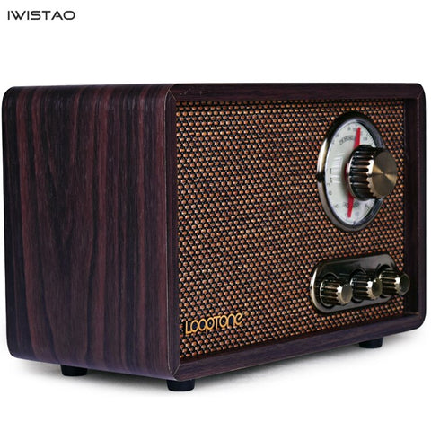 FM/AM Dual Band Radio Antique Wood Vintage Classical Retro Home Desktop Radio Bluetooth Speaker