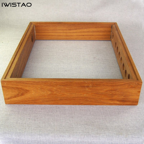 IWISTAO DIY Wooden Casing for Tube Amplifier Chassis 480X380X80 Teak Wood Top Down Aluminum Plate
