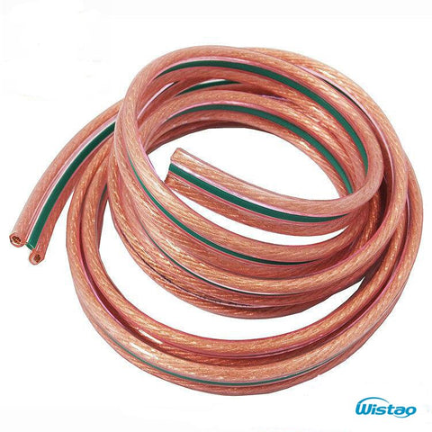 5M/Lot HIFI Audio Cable 99.99% Oxygen-free High-purity OFC Copper Two Layers Insulating Bush High Performance