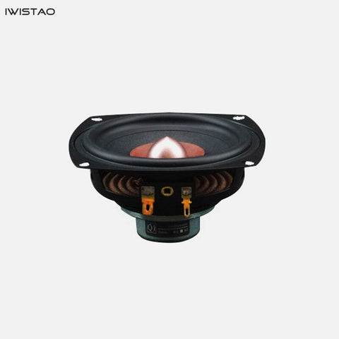 IWISTAO HIFI Full Range Speaker Unit 4 inch NdFeB Strong Magnetic 25W 4/8 ohm 78Hz-19.8Khz 88.5±dB Double Cone Design