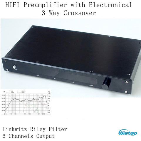 HIFI Preamplifier Electronical 3 Way Crossover Linkwitz-Riley Filter Crossover-point 310HZ/3.1KHz