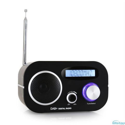 DAB + Digital Radio Alarm Clock FM Radios LCD Display Automatic Search Station Time and Date Display1.5W RMS