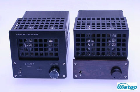 HIFI Tube Amplifier 2X16W Push-pull with Switching Power 6F2 Preamp FU17 Stage Support USB DAC