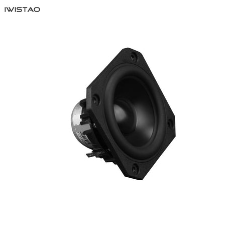 IWISTAO HIFI 3 Inch Full Range Speaker Unit 25W81hz-20KHZ 87±3dB NdFeB Strong Magnetic 4/8 ohm Anodized Aluminum Cone