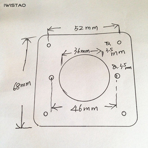 IWISTAO 1.5MM 4 Pin Big Tube Copper-plated Shock Absorber Plate Shockproof Liner for 300B 2A3