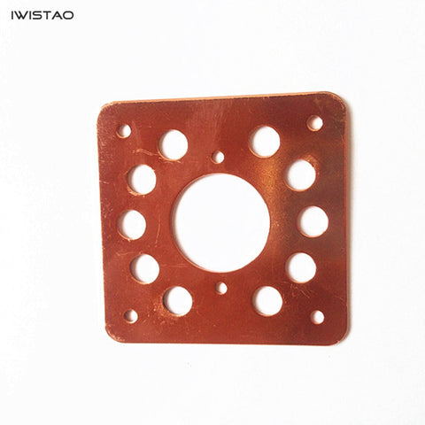 IWISTAO 1.5MM Thick Tube Copper-plated Shock Absorber Plate Shockproof Liner for KT88 EL34 6N8