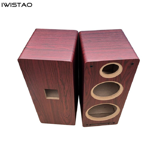 IWISTAO 1 PC 3 Way Speaker Empty Cabinet 8 Inch Passive Enclosure Wood 15mm High Density Board Labyrinth Structure HIFI DIY