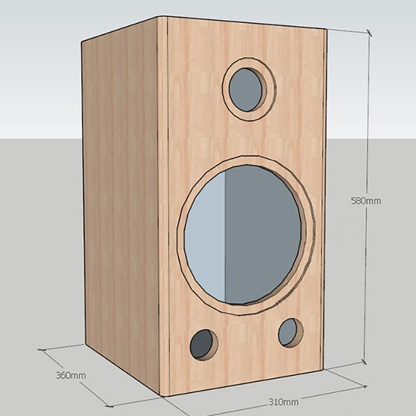 IWISTAO 1 PC  HIFI 2 Way 10 Inches Solid Wood Empty Speaker Cabinet Volume 46L for Tube Amplifier