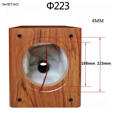 IWISTAO 1pc Bass 8 Inches Speaker Empty Cabinet Passive Speaker Enclosure Wood 18mm High Density MDF Board Volume 20L DIY