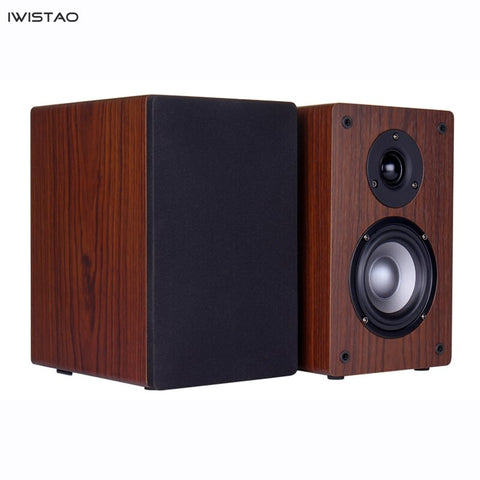 IWISTAO 2 Ways 4 Inch Passive Surround Speaker Desktop Bookshelf Computer Audio 75-20Khz 4/8 Ohms HIFI