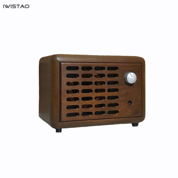 IWISTAO 20W Bluetooth Speaker 4.2  Handmade Vintage Pure Solid Wood  3 Inch Full Range Unit CSR64215