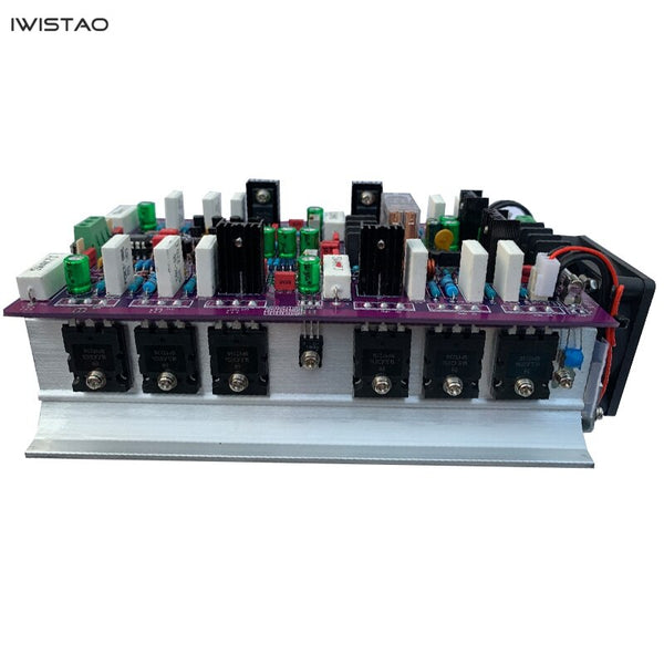 IWISTAO 2X200W HIFI Classic Class A ON MJL4281/4302 Discrete Component Stereo Power Amplifier Finished Board