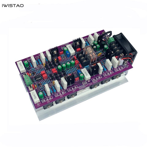IWISTAO 2X300W HIFI Stereo Discrete Component Power Amplifier Finish Board Differential Amplification Input WY2963/WK5688 Output