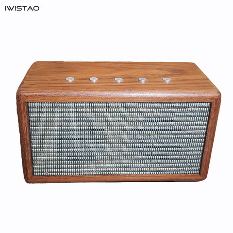 IWISTAO 2x20W Bluetooth Speaker 4.1 Handmade Vintage Solid Cherry Wood  AUX  CSR8635