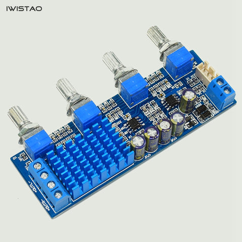 IWISTAO 2x30W Stereo HIFI TPA3116 Power Amplifier Board NE5532 Bass Treble Midrange Control