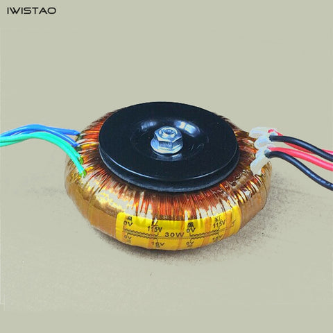 IWISTAO 30W O Type Transformer 4N OFC Double 8V or 16V for DAC Preamp Headphone Amplifier