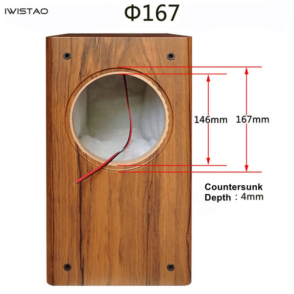 IWISTAO 6.5 inches Full Range Speaker Empty Cabinet Passive Speaker Enclosure Wood 18mm High Density MDF Board Volume 24L DIY