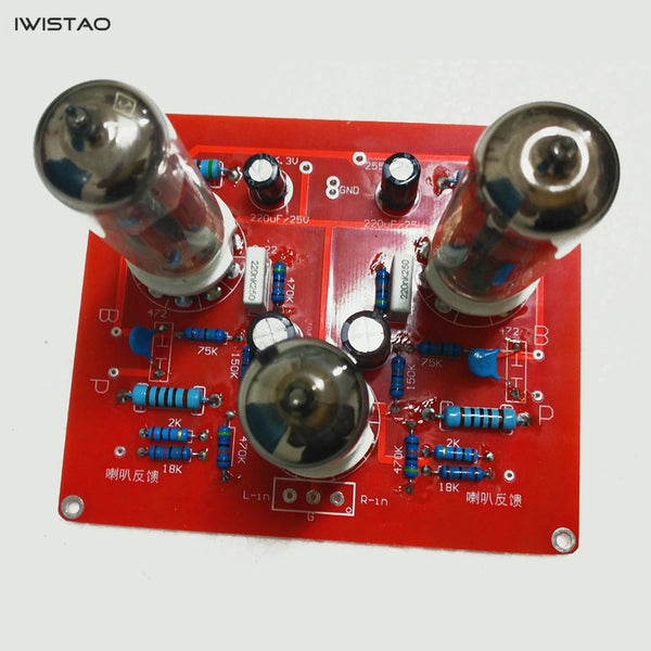 IWISTAO 6N2+6P1 Tube Amplifier Finished Board+Tubes+Output Transformers HIFI Audio DIY