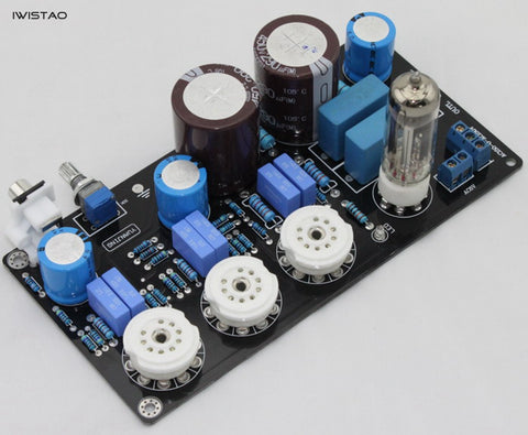 IWISTAO 6N4 Vacuum Tube Preamplifier Finished Board Maratz 7 12AX7 Sweet Natural Taste DIY
