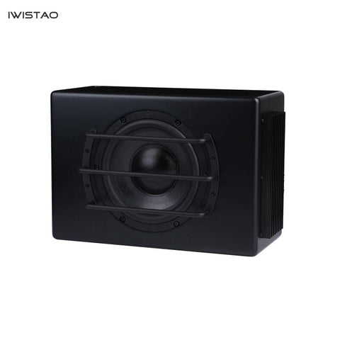 IWISTAO 8 Inch Car Active Subwoofer DC12V 100W 45-150Hz 88Db Car Audio Subwoofer Modification Black