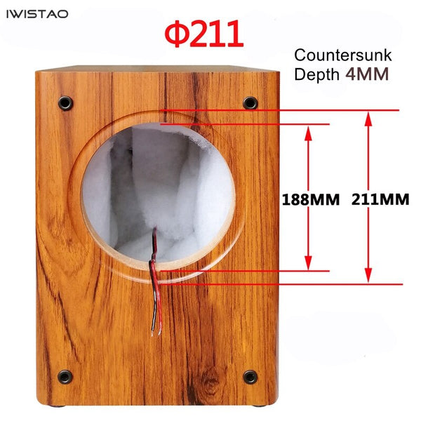 IWISTAO 8 inches Full Range Speaker Empty Cabinet Passive Speaker Enclosure Wood 18mm High Density MDF Board Volume 24L DIY