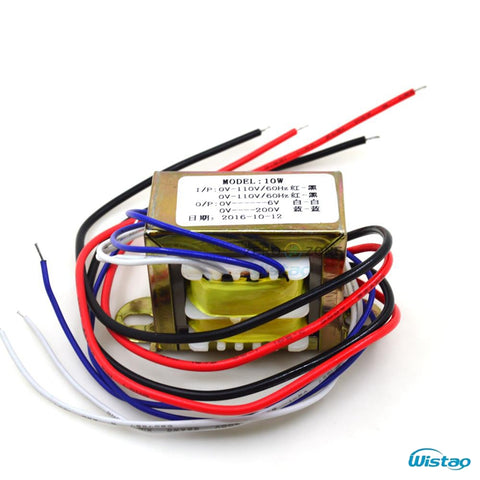 IWISTAO 10W Power Transformer EI for Tube Preamplifier 200V/20ma 6V/1A