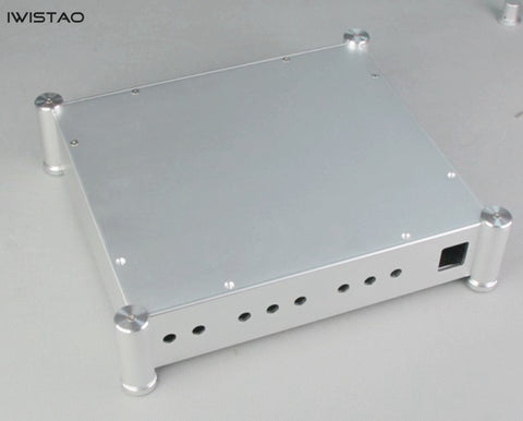 IWISTAO Aluminum Casing of Tube Amplifier Chassis Sandblasting Silver Process HIFI DIY