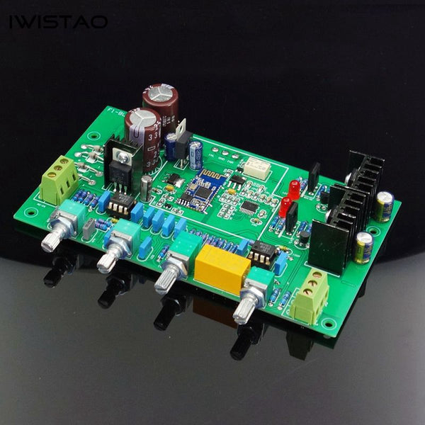 IWISTAO Bluetooth 5.0 DAC Tone PCBA QCC3003 PCM5012A with Bass Middle Treble Volume HIFI Audio DIY